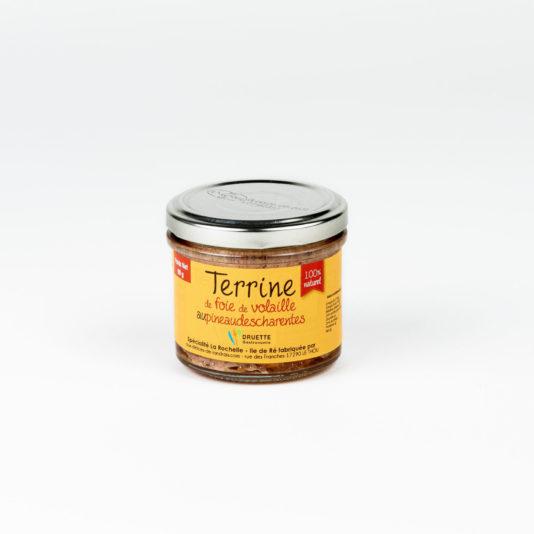 Terrine de foie de volaille au Pineau des Charentes