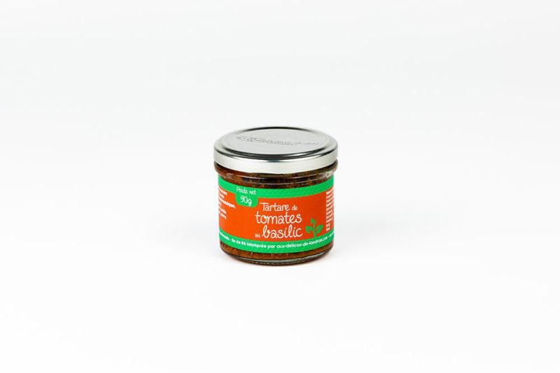 Tartare de tomates au basilic