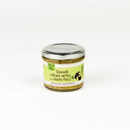 Tapenade d'olives vertes au chèvre frais